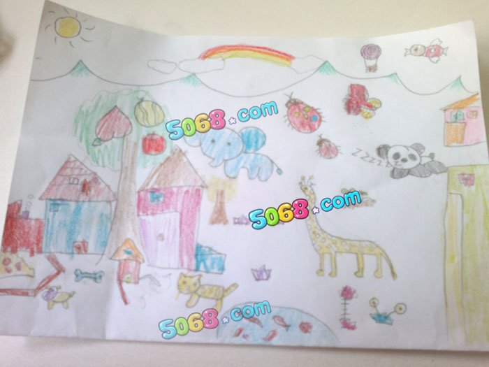 儿童水彩画《儿童画图片大全-动物世界》
