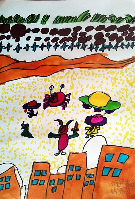 儿童水彩画《儿童画画大全图片-动物漫游记》