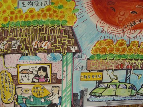 幼儿教育:儿童科幻画《生物能小区》-中大网校儿童图片