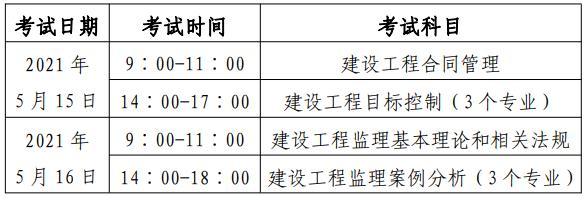 2021年北京监理工程师考试报名时间